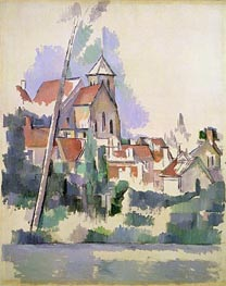 Village Church at Gardanne, c.1900 by Cezanne | Painting Reproduction