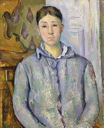 Madame Cezanne in Blue | Cezanne | Painting Reproduction