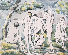 Bathers in a Landscape | Cezanne | Painting Reproduction