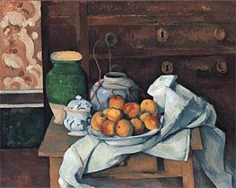 Still Life with a Chest of Drawers | Cezanne | Painting Reproduction