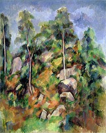 Rocks and Trees in Provence | Cezanne | Painting Reproduction
