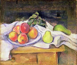 Still Life with Peaches and Pears | Cezanne | Painting Reproduction