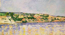River and Hills | Cezanne | Painting Reproduction