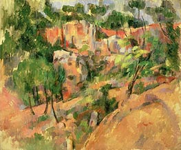 Corner of Quarry | Cezanne | Painting Reproduction
