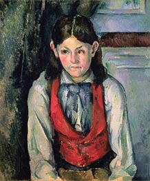 Boy in a Red Vest (Garcon au Gilet Rouge) | Cezanne | Painting Reproduction