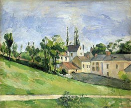 The Uphill Road, 1881 by Cezanne | Painting Reproduction