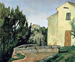 The Abandoned House at Tholonet, undated by Cezanne | Painting Reproduction