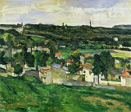 Near Auvers-sur-Oise, undated by Cezanne | Painting Reproduction