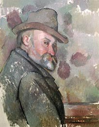 Self Portrait, c.1890/94 by Cezanne | Painting Reproduction