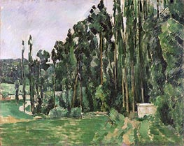 The Poplars, c.1879/82 by Cezanne | Painting Reproduction