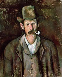 Man with a Pipe, c.1892/95 by Cezanne | Painting Reproduction
