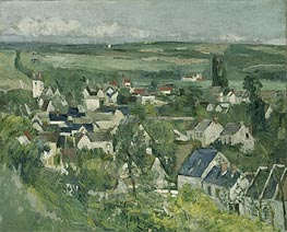 Auvers, Panoramic View, c.1873/75 by Cezanne | Painting Reproduction