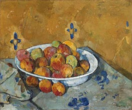 The Plate of Apples, c.1877 by Cezanne | Painting Reproduction