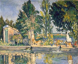 Jas de Bouffan, the Pool, c.1876 by Cezanne | Painting Reproduction