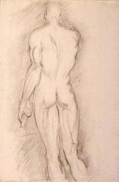 Ecorche (after Houdon), c.1892/95 by Cezanne | Painting Reproduction