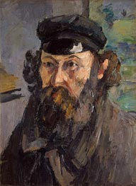 Self-Portrait in a Casquette, c.1872 by Cezanne | Painting Reproduction