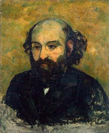 Self-Portrait, c.1880/81 by Cezanne | Painting Reproduction
