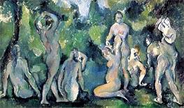 Women Bathing, c.1895 by Cezanne | Painting Reproduction