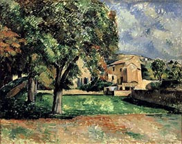 Trees in a Park, Jas de Bouffan, c.1885/87 by Cezanne | Painting Reproduction