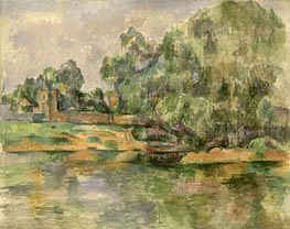 Riverbank, c.1895 by Cezanne | Painting Reproduction