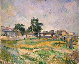 Landscape near Paris, c.1876 by Cezanne | Painting Reproduction