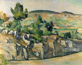 Hillside in Provence, c.1890/92 by Cezanne | Painting Reproduction