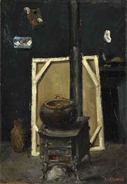 The Stove in the Studio, c.1865 by Cezanne | Painting Reproduction