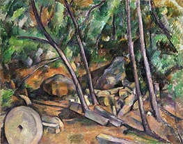 Millstone in the Park of the Chateau Noir | Cezanne | Painting Reproduction