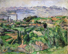 View of the Bay of Marseille with the Village of Saint-Henri | Cezanne | Painting Reproduction