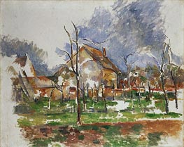 Winter Landscape, Giverny | Cezanne | Painting Reproduction