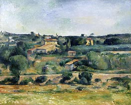 Landscape from the West of Aix-en-Provence | Cezanne | Painting Reproduction