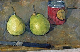 Pears and Knife | Cezanne | Painting Reproduction