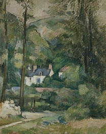 Houses in the Greenery | Cezanne | Painting Reproduction