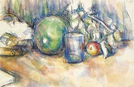 Still Life with Green Melon | Cezanne | Painting Reproduction