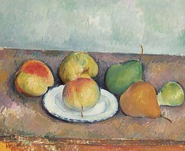 Still Life with Apples and Pears | Cezanne | Painting Reproduction