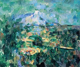 Montagne Sainte-Victoire Seen from Les Lauves | Cezanne | Painting Reproduction