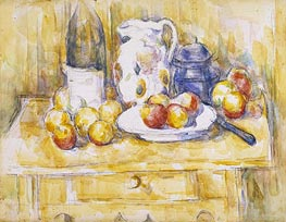 Still Life with Apples on a Sideboard | Cezanne | Painting Reproduction