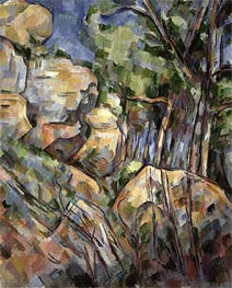 Rocks near the Caves below the Chateau Noir | Cezanne | Painting Reproduction