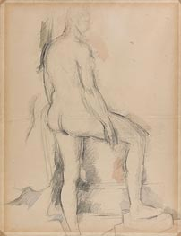 Study of a Nude Figure | Cezanne | Painting Reproduction