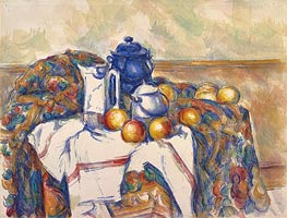 Still Life with Blue Pot, c.1900 by Cezanne | Painting Reproduction