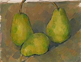 Three Pears, c.1878/79 by Cezanne | Painting Reproduction