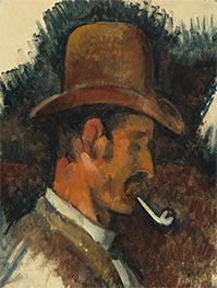 Man with Pipe, c.1892/96 by Cezanne | Painting Reproduction