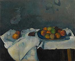 Still Life: Plate of Peaches, c.1879/80 by Cezanne | Painting Reproduction