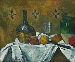 Still Life: Flask, Glass and Jug, c.1877 by Cezanne | Painting Reproduction