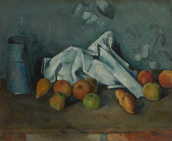 Still Life with Milk Can and Apples, c.1879/80 | Cezanne | Gemälde Reproduktion