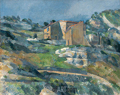 Houses in Provence the Riaux Valley near L'Estaque, c.1880 | Cezanne | Painting Reproduction