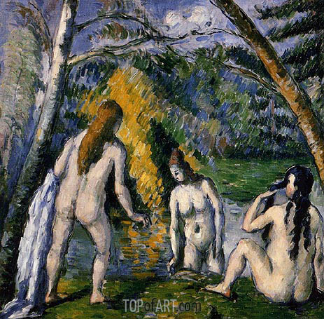 Three Bathers, c.1876/77 | Cezanne | Painting Reproduction