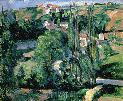 Jalais Hill, Pontoise, c.1879/80 | Cezanne | Painting Reproduction