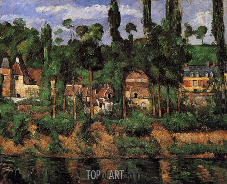 The Chateau at Medan, c.1879/81 | Cezanne | Painting Reproduction