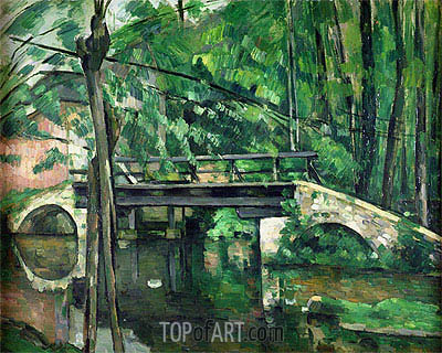 The Pont de Maincy, c.1879 | Cezanne | Painting Reproduction
